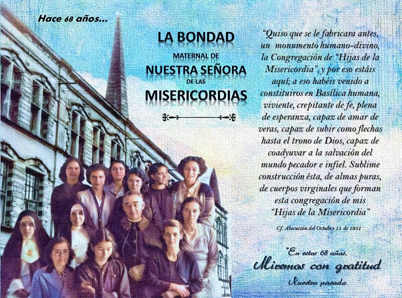 ¡68 AÑOS MISERICORDIADAS, FELIZ ANIVERSARIO!